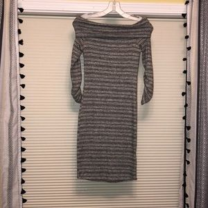 Off the shoulder gray and black dress (never worn)